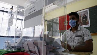 Un bureau de vote à Casablanca au Maroc, le 8 septembre 2021