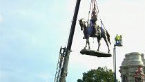 Confederate statue taken down in Virginia