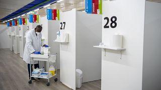 Центр вакцинации в Женеве, Швейцария