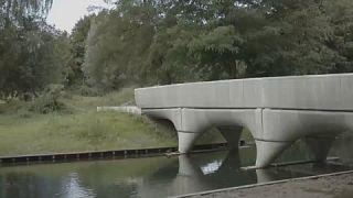 Pays-Bas : le plus long pont cycliste en béton du monde réalisé en impression 3D