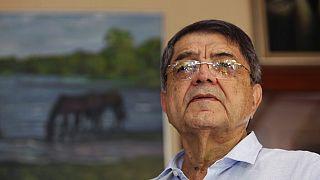 Imagen de archivo del escritor Sergio Ramírez durante una rueda de prensa en Managua en el año 2017