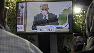 Le ministre de l'Intérieur, Abdelouafi Laftit, a annoncé les résultats en direct à la télévision