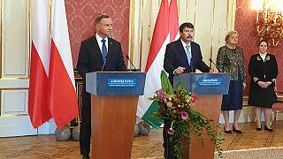 magyar-lengyel elnöki találkozó a Sándor-palotában