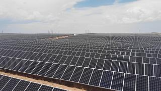 New Mexico'daki güneş enerjisi üretim yerleşkesi