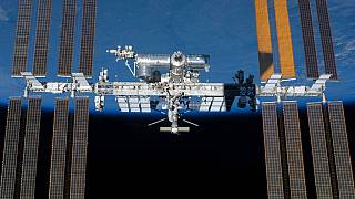 An undated photo provided by NASA shows the International Space Station in orbit.