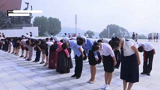 Parade civile et sans missiles en Corée du Nord