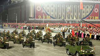 رژه نظامی در کره شمالی