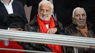 Жан-Поль Бельмондо на матче Пари-Сен-Жермен - Лорьян 1 ноября 2013 года,
