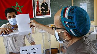 8 Eylül 2021'de gerçekleşen Fas genel seçimlerinden bir kare.