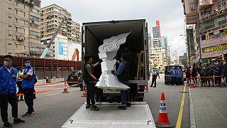 Гонконг: полиция вывезла экспонаты