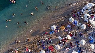 Strand in Dubrovnik, Kroatien, 13.08.2021
