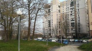 The Cité des Tarterets housing project at Corbeil-Essonne, southeast of Paris.