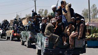 مقاتلو طالبان في قندهار.