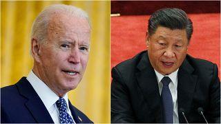 الرئيس الصيني شي جينبينغ والرئيس الأمريكي جو بايدن