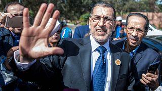 سعد الدين العثماني يصل إلى اجتماع لحزب العدالة والتنمية الإسلامي في سلا، المغرب، 18 مارس 2017