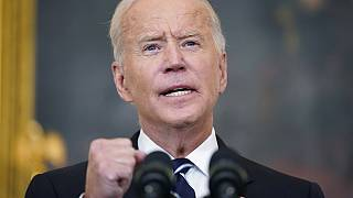 El presidente de Estados Unidos, Joe Biden, durante la alocución en la que anuncia medidas draconianas para forzar millones de vacunaciones en su país
