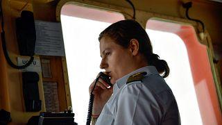 Diana Kidzhi, la mujer de más alto rango de la flota de rompehielos nucleares de Rusia