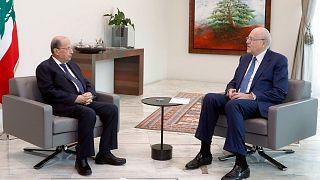 نجیب میقاتی، نخست وزیر و میشل عون، رئیس جمهوری لبنان