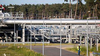 Almanya'nın kuzeydoğusundaki Lubmin'deki Kuzey Akım 2 gaz hattı karaya indirme tesisi. 7 Eylül 2021