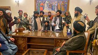 اعضای طالبان در ارگ ریاستجمهوری افغانستان