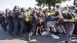 Proteste gegen die IAA in München