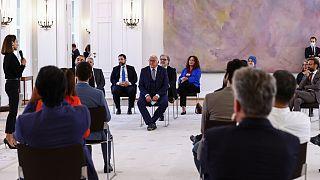 """Almanya Cumhurbaşkanı Steinmeier, Türkiye ile Almanya arasında imzalanan """"İş Gücü Anlaşması'nın"""" 60. yıl dönümü vesilesiyle Türklerle bir araya geldi"""
