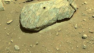Persevarence, Mars'tan kaya örneği topladı