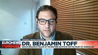 Dr. Benjamin Toff, Senior Research Fellow at the Reuters institute for the study of journalism, on Euronews.