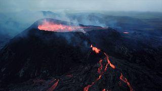 volcano on Fagradalsfjall