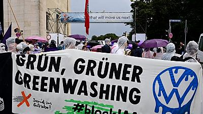 Watch thousands of environmentalists protest at a German motor show