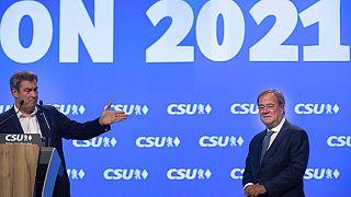 Markus Söder und Armin Laschet bei der CSU in Nürnberg