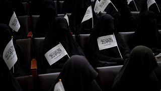 گردهمایی زنان نقابپوش و برقعپوش در دانشگاه «شهید ربانی» در کابل