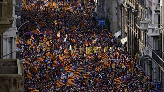Ils étaient 108 000 à défiler dans les rues de Barcelone ce samedi 11 septembre
