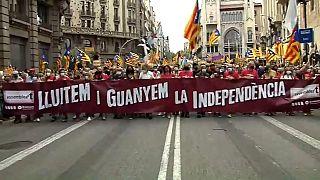 Каталония: протесты в День Диады