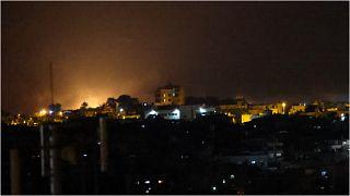 الجيش الإسرائيلي يقصف أهدافاً في قطاع غزة ويقول إنها تخص حركة حماس، الأحد 12 أيلول/سبتمبر 2021