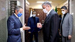 رافائل گروسی، مدیر کل آژانس بینالمللی انرژی اتمی در بدو ورود به تهران