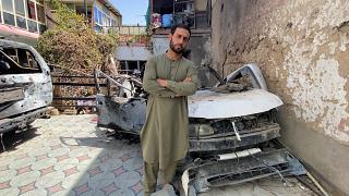 Emal Ahmadi, who lost family members in a US drone strike, poses for Euronews, Afghanistan, September 2021.
