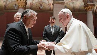 پاپ فرانسیس در مجارستان با ویکتور اوربان دیدار کرد