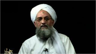 صورة أرشيفية لزعيم تنظيم القاعدة أيمن الظواهري تمّ التقاطها من مقطع مصوّر بثه التنظيم بتاريخ 2 أيلول/سبتمبر 2006