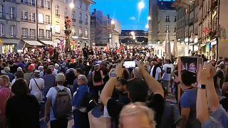 Proteste gegen Corona-Regeln in der Schweiz