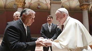 Папа римский Франциск встретился с премьер-министром Венгрии Виктором Орбаном