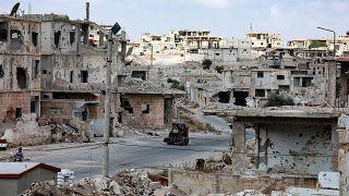 تصاویری از شهر جنگزده درعا پس از پیشروی نیروهای دولتی سوریه