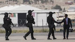 Les forces spéciales du Qatar à leur arrivée à l'aéroport de Kaboul, Afghanistan, 12 septembre 2021