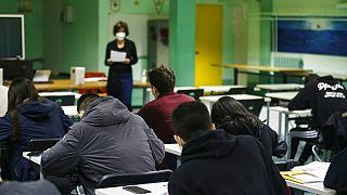 Τάξη σχολείου στην Ιταλία - φωτό αρχείου