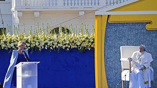 البابا أثناء زيارته سلوفاكيا