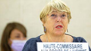 Birleşmiş Milletler (BM) İnsan Hakları Yüksek Komiseri Michelle Bachelet.