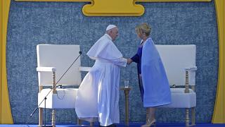 Ferenc pápa Zuzanna Caputová szlovák államfővel