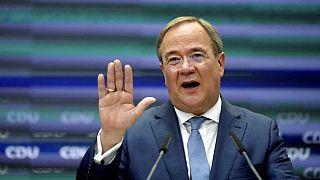 """CDU-Kanzlerkandidat Armin Laschet stellt in Berlin sein """"Sofortprogramm"""" vor"""