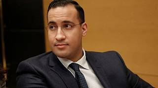 Alexandre Benalla appeared before the French Senate Laws Commission in 2019 prior to his hearing.