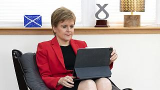 İskoçya Başbakanı Nicola Sturgeon parti konferansna hazırlanırken
